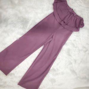 NEW!  Fashion Nova Lavender Ruffle Top Romper